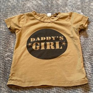 Size 24 month 2T Daddy's girl t-shirt